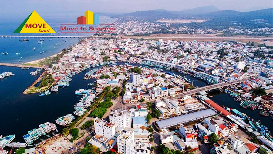 Một góc thành phố Phú Quốc, tỉnh Kiên Giang nhìn từ trên cao